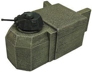 Artmaster-80-664-Tobruk-mit-Sumoa-Turm-H0-1-87-Bausatz-Keramik-Resin-Bunker