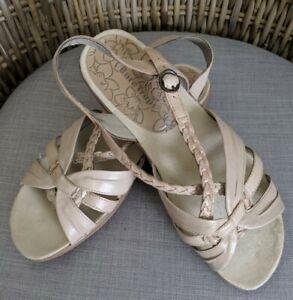 Bare Traps Jacee Braided Slingback Open Toe Bone Beige Sandals Womens Sz 7.5M