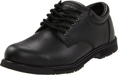 CONVERSE Sure Grip Plus Plain Toe Oxford C1120 BLACK WORK BOOTS LEATHER MEN