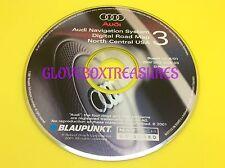 AUDI NAVIGATION DVD MAP CD GPS NAV DISC CD 3 NORTH CENTRAL ZBW D02 DCA 03.