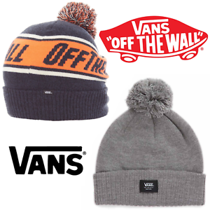 c5396e458bf Vans Beanie Hat Off The Wall Pom One Size Dress Blues Heather Orange ...
