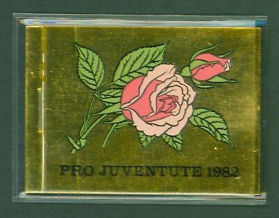 Pro Juventute Rosen Markenheftchen Mh 0-76 Mangelware Treu Schweiz Suisse Switzerland 1982