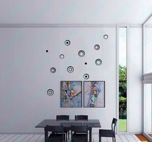 Removable-3D-DIY-Wall-Stickers-Circles-Creative-Stereo-Art-Decal-Home-Decor-New