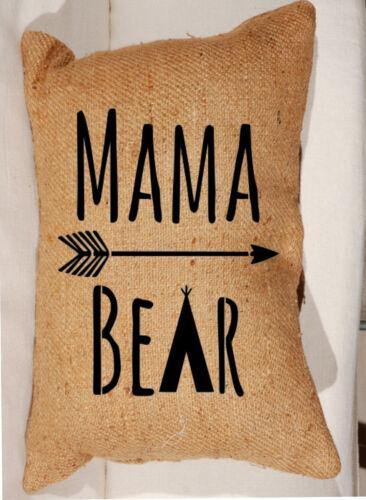 Stencil Mama Bear TeePee Arrow for Sign Pillow Saying DIY Canvas Primitive