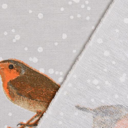 Belle Vie De Table Coureur Hiver Rouge-gorges Volière Gris Blanc Brun 40x160cm