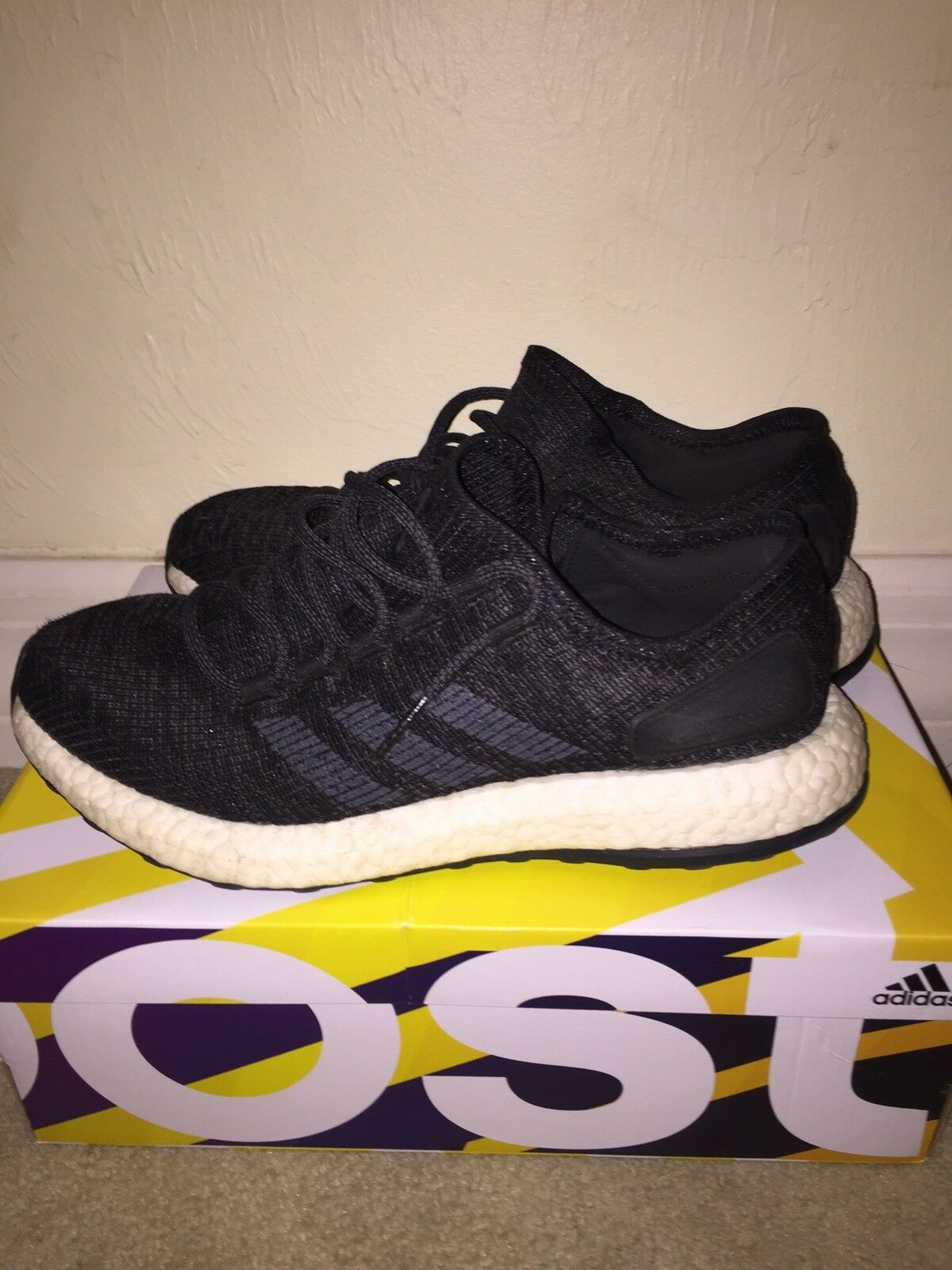 Adidas Pure Boost 2018 Mens Size 8.5 BA8899 Black