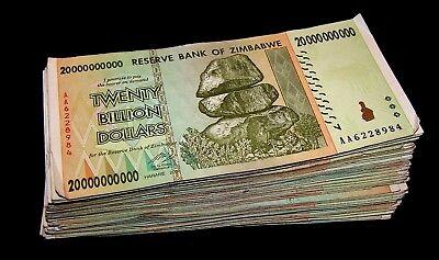 10 Zimbabwe Banknotes-10 x 1 Billion Dollars-currency