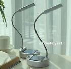 Solar & USB Power 4LED Desk Light Flexible Desktop Reading Protect Eyes D078
