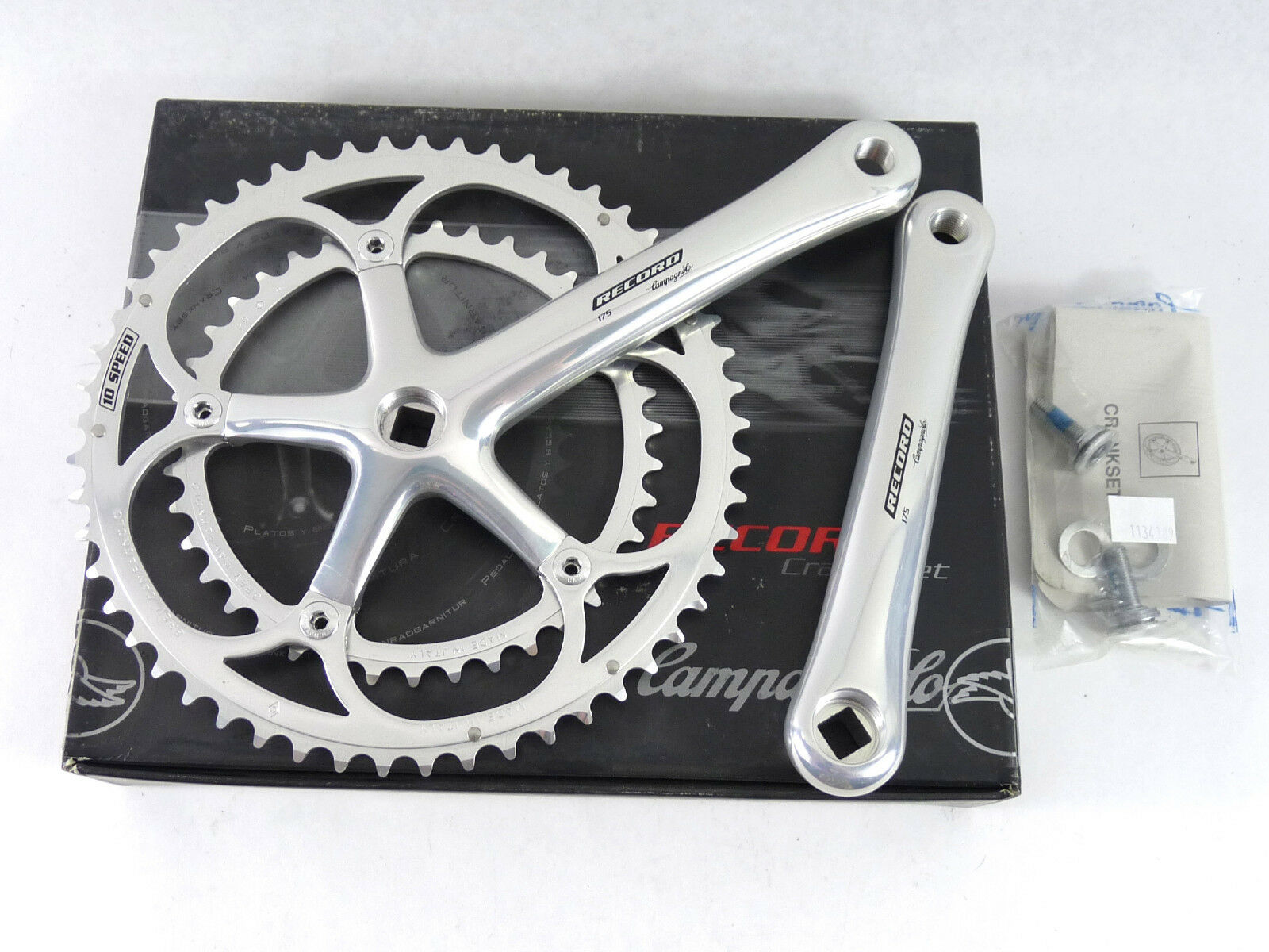Campagnolo Record Crankset 10 Speed NIB 175mm Classic Bike 2000 ALMOST GONE  NOS