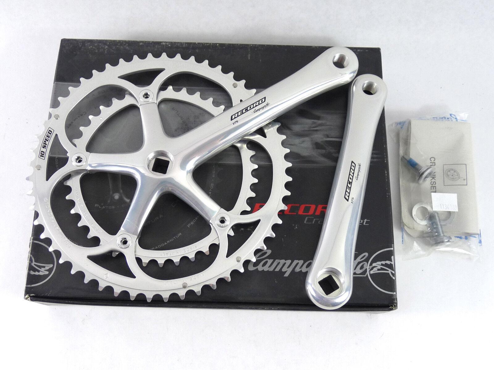 Campagnolo Record Crankset 10 Speed NIB  175mm Classic Bike 2000 ALMOST GONE  NOS  zero profit