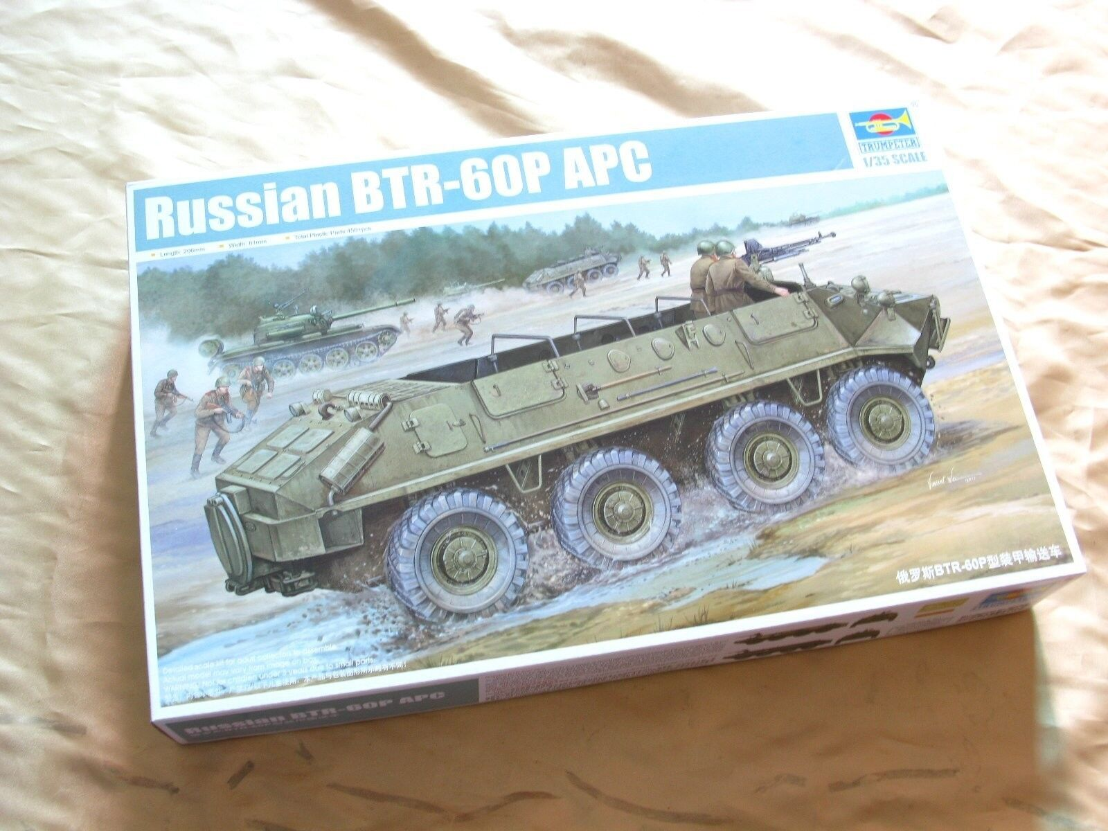 01542 Trumpeter 1 35 Model BTR-60P APC Armored Delivery Wagon Tank Vehicle Kit
