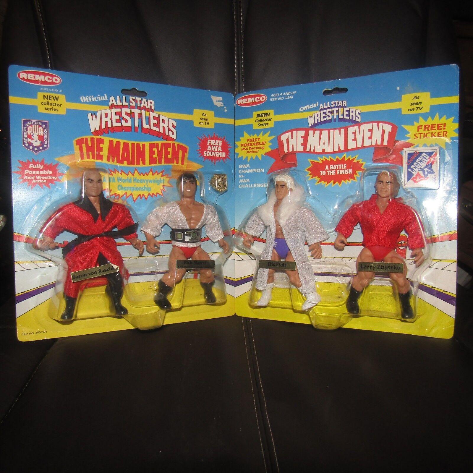 REMCO AWA wwf nwa All Star Wrestling Baron Raschke Martel & Flair Zbyszko,moc