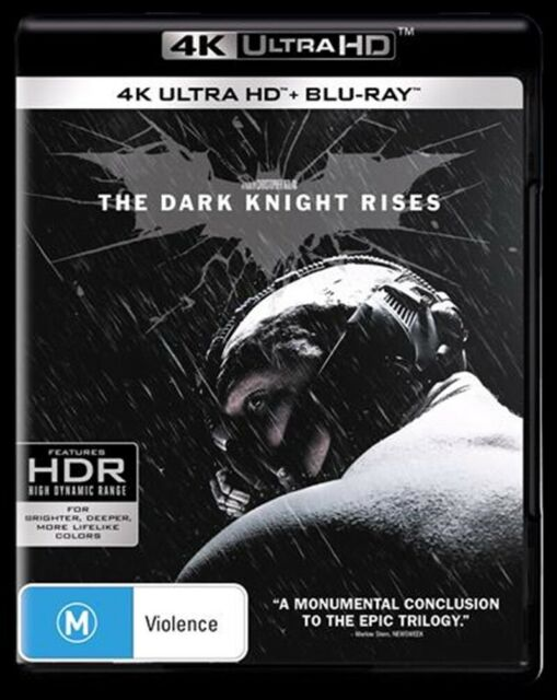 The Dark Knight Rises : NEW 4K UHD Blu-Ray