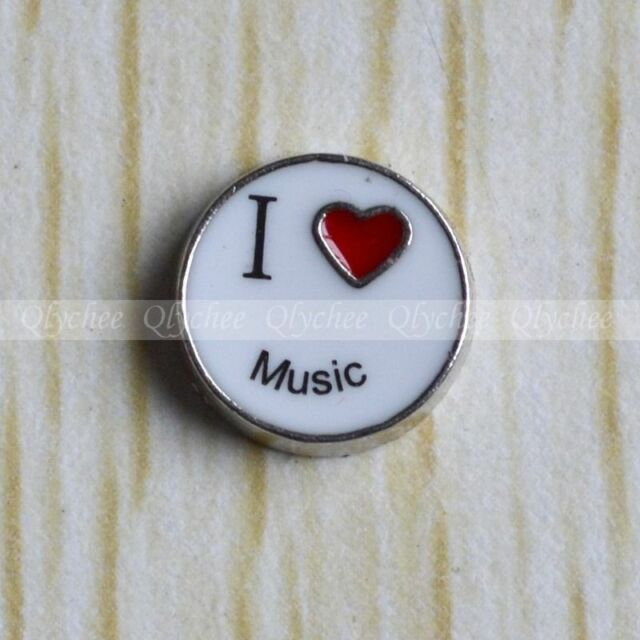 Floating Locket Charms Love Music for Glass Living Memory Lockets Free Shipping