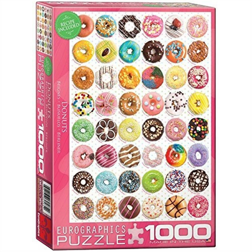 Eurographics Puzzle 1000pc -donut (tops) Sweet Collection - Eg60000585 Donut