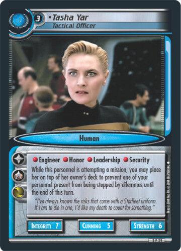 Fractured Time STCCG Star Trek 2E: Tasha Yar Lightly Played Tactical Officer