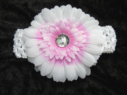 Haarband Stirnband Haarschmuck Baby Kopfband Blume Rose Glitzerstein