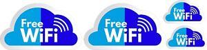 kit  adesivi wifi free wi-fi zone stickers vetrina blu celeste cod130
