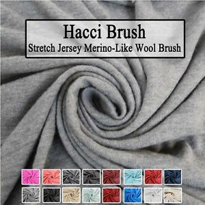 Hacci Brush Stretch Jersey Merino Like Wool Brush Fabric