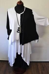 xl xxxl strickjacke amp; 54 White Asymetrisch Lagenlook xxl Black Jersey 52 48 50 qSvw4wTxU