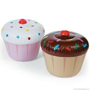 GIANT-INFLATABLE-CUPCAKE-DESSERT-Blow-Up-Pool-Birthday-Party-Fun-Float