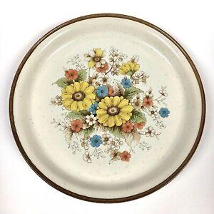 Vintage Nitto Heather Stone Old Garden 9804 Japan Floral Dinner Plate Oven Safe