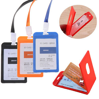 Safety No Zipper Tag Protective Shell Badge Case Office Supplies ID Card Holder