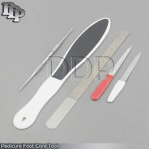 Set Of 5 Professional Manicure Pedicure Nail Filers Hard Skin ...