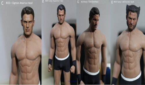 PL2016-M33 Phicen 1//6 Male Body/& Captain//Superman//Star Lord //Wolverine head