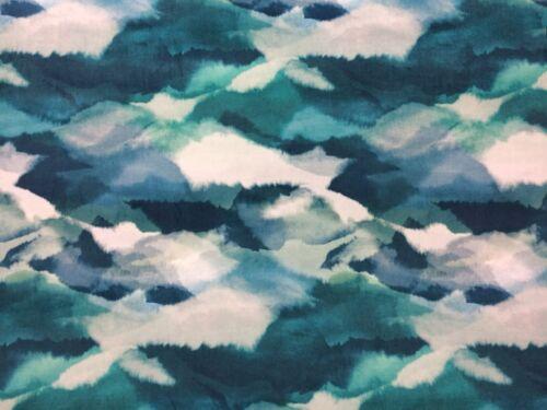"HARLEQUIN /""Minako velours/"" Rideau Coussin Garniture Design tissu 2 m Emerald"