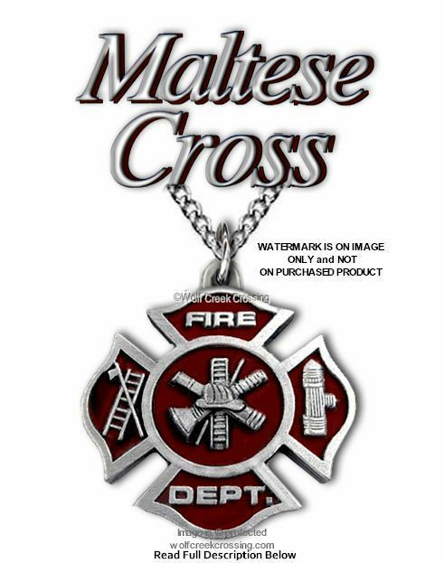 Fire rescue collection on ebay fire fighter necklace fireman maltese cross firefighter emergency rescue c18 aloadofball Gallery
