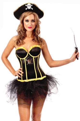 OP 3006 Ladies Costume Fancy Dress Pirate Wench Swashbuckler Sz 6,8,10,12,14,16
