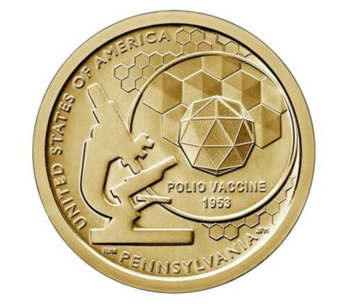 2019 D American Innovation $1 Dollar Coin Roll Mint Uncirculated Pennsylvania