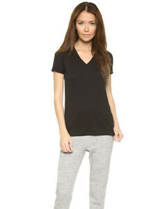 d44bd95992c8 AUTH NEW T by Alexander Wang Superfine V Neck Tee in BLACK ...