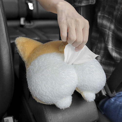 Dual Used Creative Dog Butt Shaped Tissue Box Cover Soft Adorable Paper Napkin