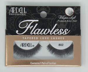 LOT-OF-10-Ardell-FLAWLESS-802-Whisper-Soft-Premium-Remy-Hair-Black