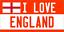 28 cm x 14.5 cm I love England Licence Plaque Métal//signe-anglais-Bretagne 116