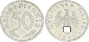Third Reich 50 Pfennig 1942 F Extremely Fine (1)