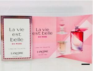Lancome-La-vie-est-belle-En-Rose-L-039-Eau-De-Toilette-2-x-1-2-ml-New