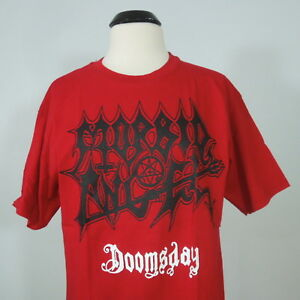MORBID-ANGEL-Doomsday-Red-Graphic-T-Shirt-Men-039-s-size-M-NEW-w-defect