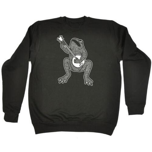 FROG Banjo Felpa Toad FASHION Stringa Strumento Musicale Compleanno Regalo Moda