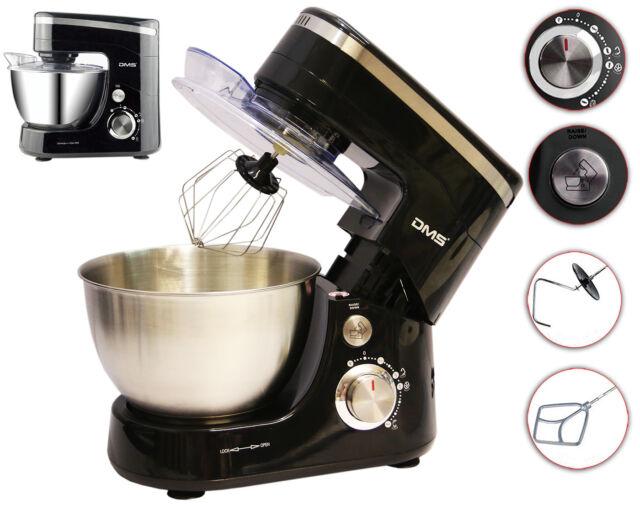 Küchenmaschine Rührmaschine Knetmaschine Teigkneter Schwarz 5L 1400 W DMS®