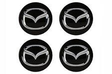 "Mazda 3 5 6 CX-5 CX-9 MX-5 17"" Wheel Hub Center Caps w/ Logo Set (4) OEM NEW"