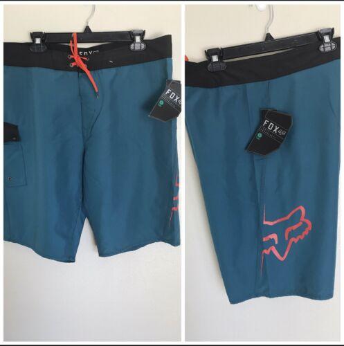 36 FOX Bionic Overhead Swim Board Shorts Jade Blue Mens Size 34