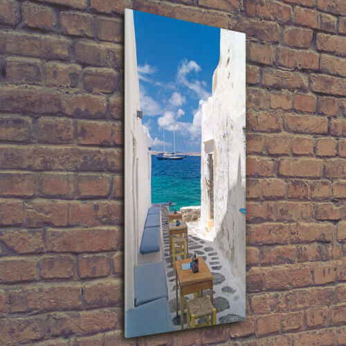Acrylic Glass Print Wall Art Image 50x125cm Greek streets