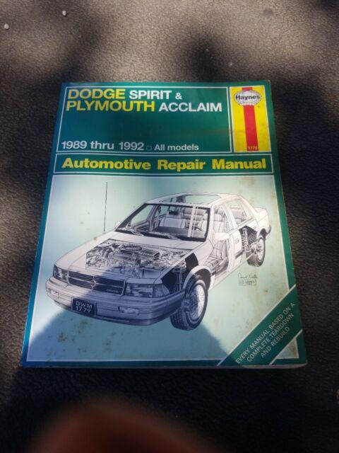 Haynes Repair Manual 30060  1779  Dodge Spirit  U0026 Plymouth