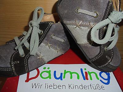 Däumling Gr. 22 Jungen Mädchen Lauflerner Halbschuhe Schuhe espresso M0430/130
