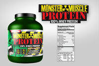 100% Cold Filtered Whey Protein Powder 5 Lb Monster Muscle Free Shipping