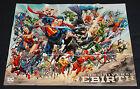 DC Universe Rebirth SDCC 2016 Promo Poster Signed Reis, Prado, Benson +