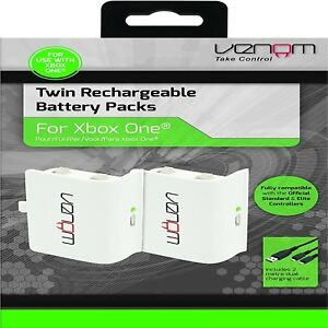 Venom-Xbox-One-Rechargeable-Battery-Twin-Pack-WHITE-Xbox-One-Xbox-One-S-Xb